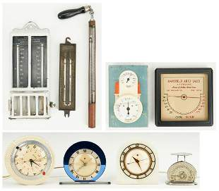 8 American Clocks & Weather Gauges, 9 items