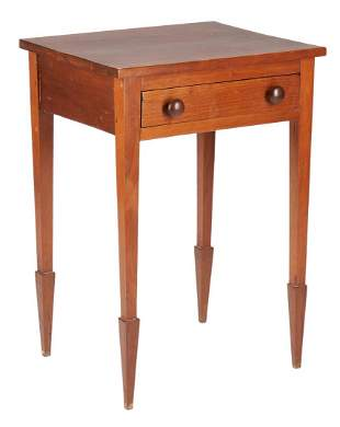 Middle TN One Drawer Stand, Spade Feet