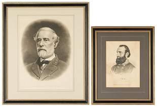 19th Cent. Robert E. Lee & Stonewall Jackson Prints