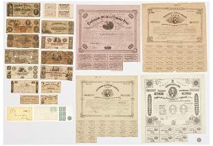 21 Civil War Era Paper Ephemera items, incl. CSA