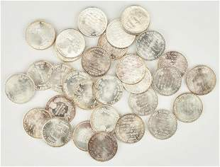 30 US 1 Oz Troy Silver Rounds, incl. USS Const.