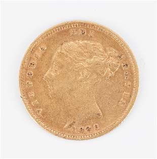 1883 London Mint Victoria 'Shield' Half Sovereign Gold