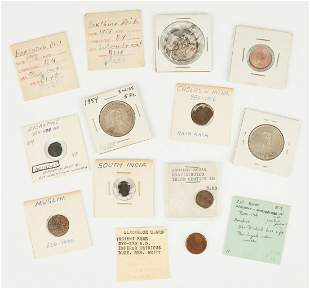 9 Ancient & Foreign Coins, incl. Byzantine, Chola