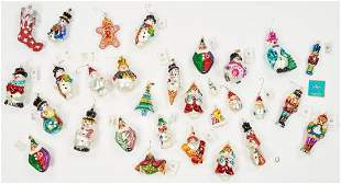 30 Christopher Radko Christmas Ornaments, incl. Signed