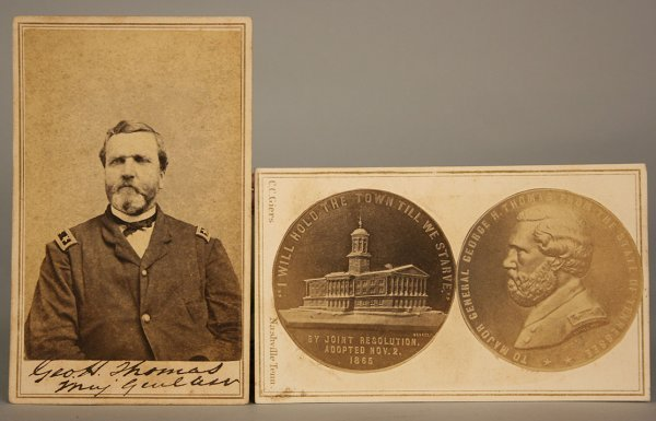 16: 2 Civil War General George H. Thomas related CDV's
