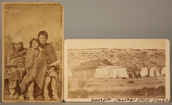 17: Lot of two western related CDV's.