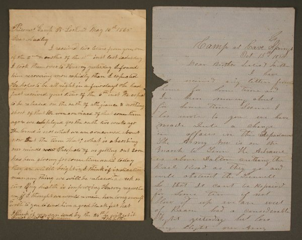 20: Grouping of Tennessee Civil War letters