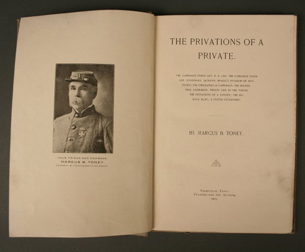 "23: First Edition Book, ""The Privations of a Private"""