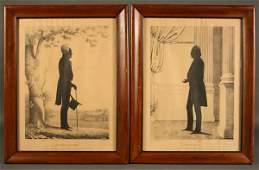 40: Pair of Jackson & Clay silhouette prints by Kellogg