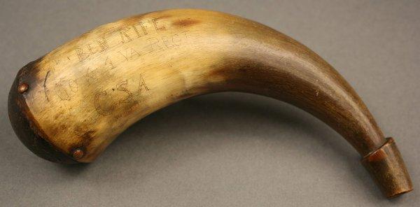 2: Confederate powder horn, 1st Virginia Regiment