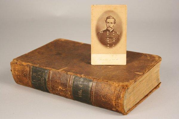 4: CDV of  P.G.T. Beauregard and 1862 Civil War book