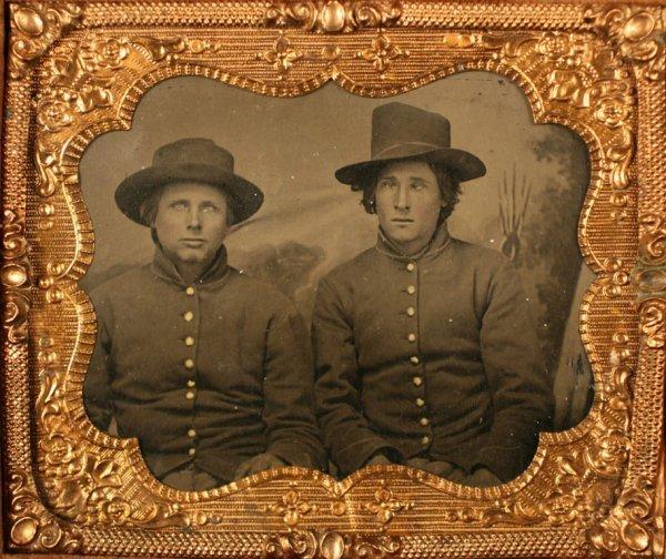 5: Civil War tintype, 2 Union Cavalry soldiers