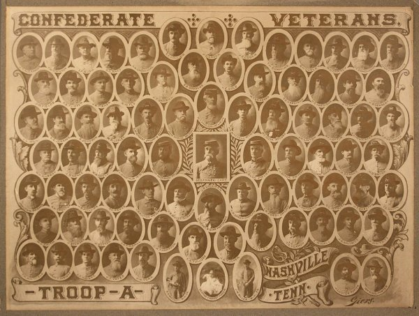 6: Confederate Veterans Photo Nashville Troop A Cavalry