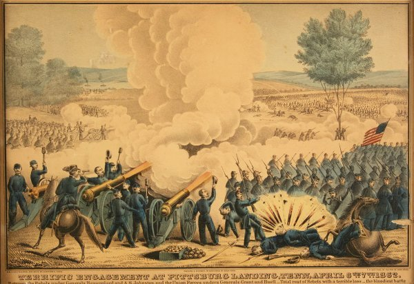 7: Kellogg Civil War print, Battle of Shiloh