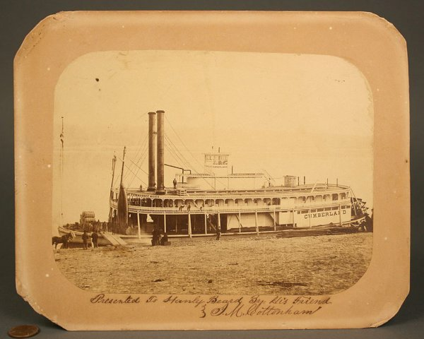 14: Early photo of  steamboat Cumberland  (USS Kenwood)