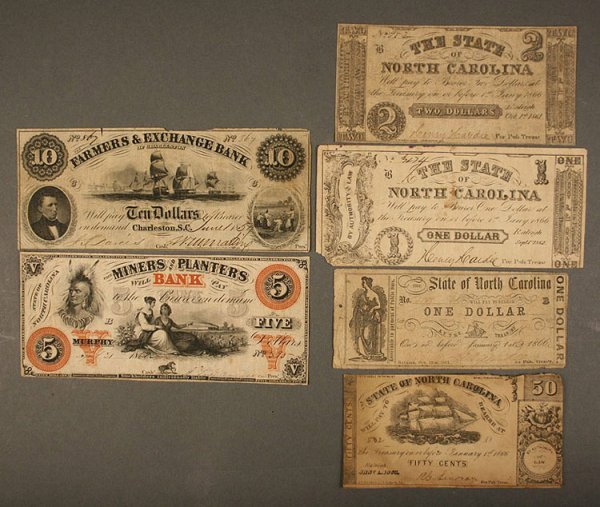17: Grouping obsolete currency notes, North and South C