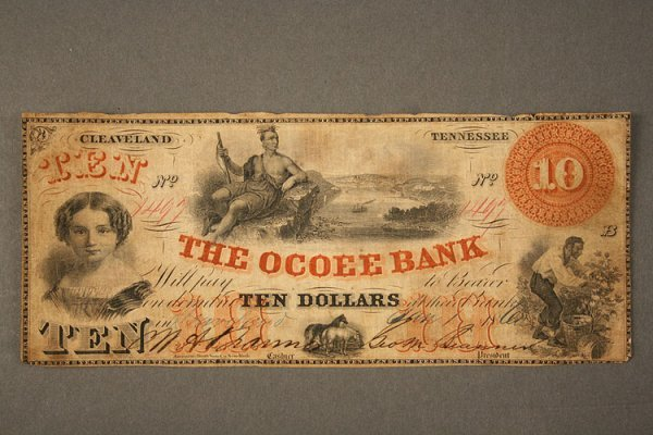 19: Tennessee Obsolete Currency Note, Ocoee Bank