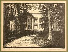 31: Jackson's Hermitage woodblock, Theresa Davidson