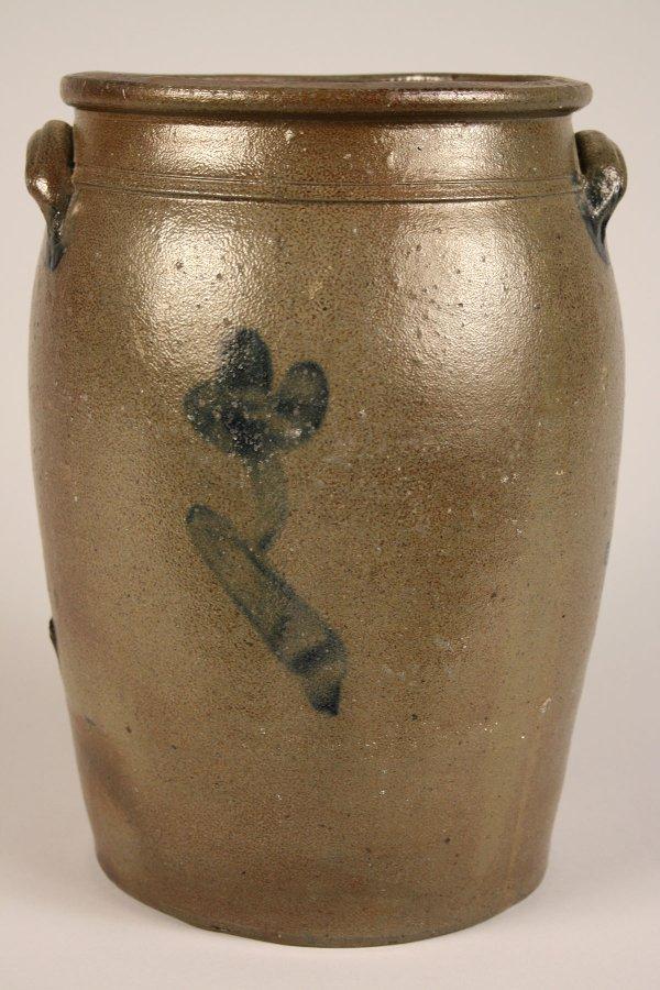 93: East Tennessee cobalt decorated jar, attrib. Decker