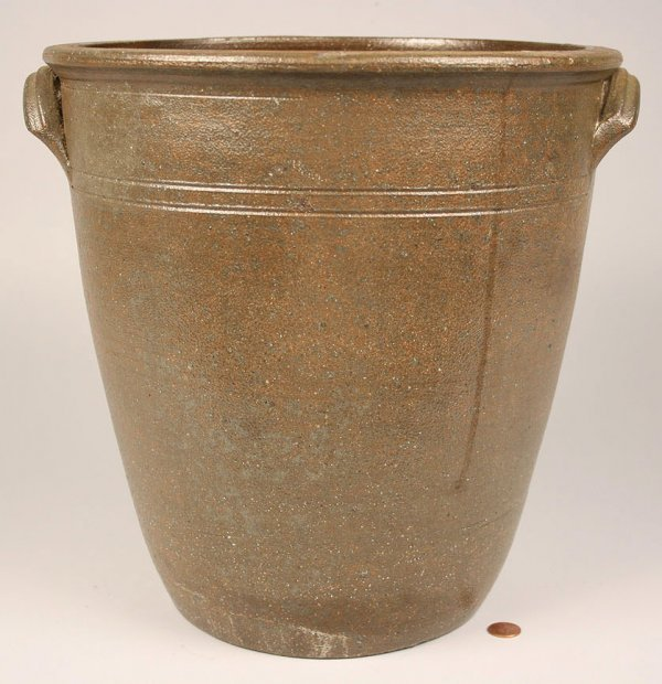 94: East Tennessee Large stoneware jar with extruded lu