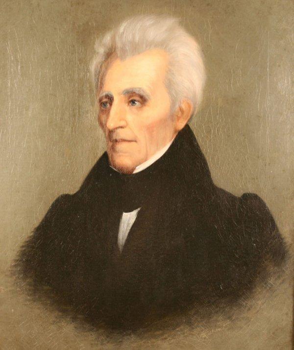 157: Andrew Jackson Portrait by William Stewart Watson, - 5