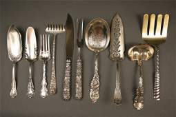 258 10 pcs assorted sterling silver flatware early 2
