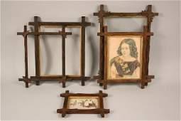 296 5 tramp or black forest folk art picture frames
