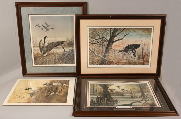 354: Four Ralph McDonald wildlife Prints