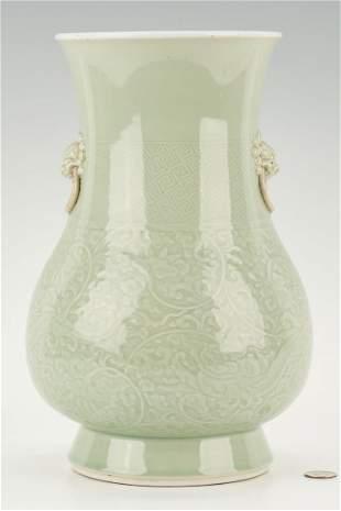 Chinese Celadon Porcelain Glazed Vase