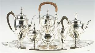 Gorham Sterling Silver Tea Service w/ Tray, 7 Pcs.