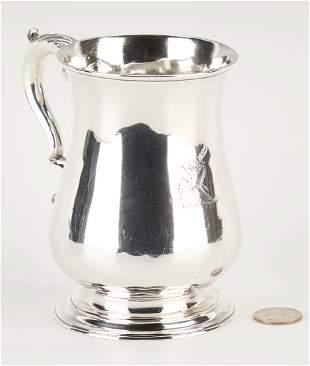 George III Crested Sterling Mug or Tankard, Franz Crump