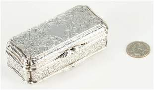 Silver Snuff Box, Sir Reg. Graham Presentation
