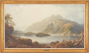 George Fennel Robson Watercolor, Loch Katrine