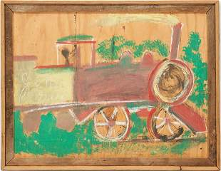 Large J.L. Sudduth Train Painting