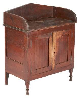 Southern Miniature or Child's Walnut Sheraton Cupboard,