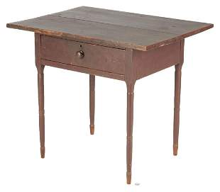 Southern Painted Cherry 1-Drawer Work Table