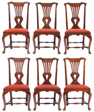 6 Period Chippendale Chairs attrib. Portsmouth, NH