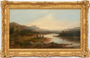 William McEvoy O/C Landscape Painting