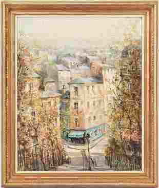 Lucien Delarue O/C Painting, Montmartre, Paris