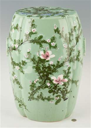 Chinese Celadon Porcelain Garden Stool