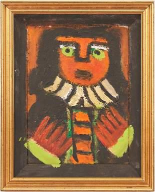 Eddy Mumma Outsider Art Painting of a Woman