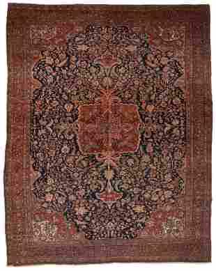 Antique Persian Sarouk Rug or Carpet, 13' x 10'