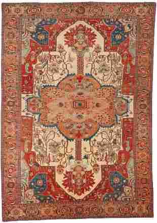 Large Turkish Rubia Carpet or Rug, Woven Legends