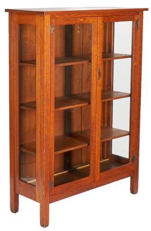 Stickley Brothers Arts & Crafts Oak China Cabinet