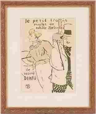 Toulouse Lautrec Lithograph, Le Petit Trottin