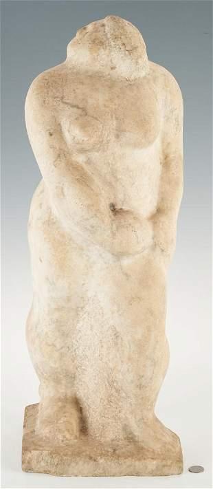 Limestone Sculpture of a Woman, attr. Puryear Mims