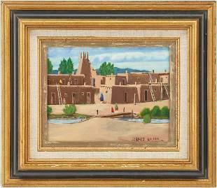 Albert Lujan O/B Painting, Taos Pueblo