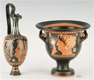 2 Ancient Greek Red-Figure Pottery Vessels, ex-Royal