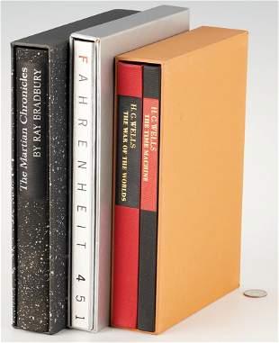 Group of 4 LEC Signed Books, incl. R. Bradbury, H. G.