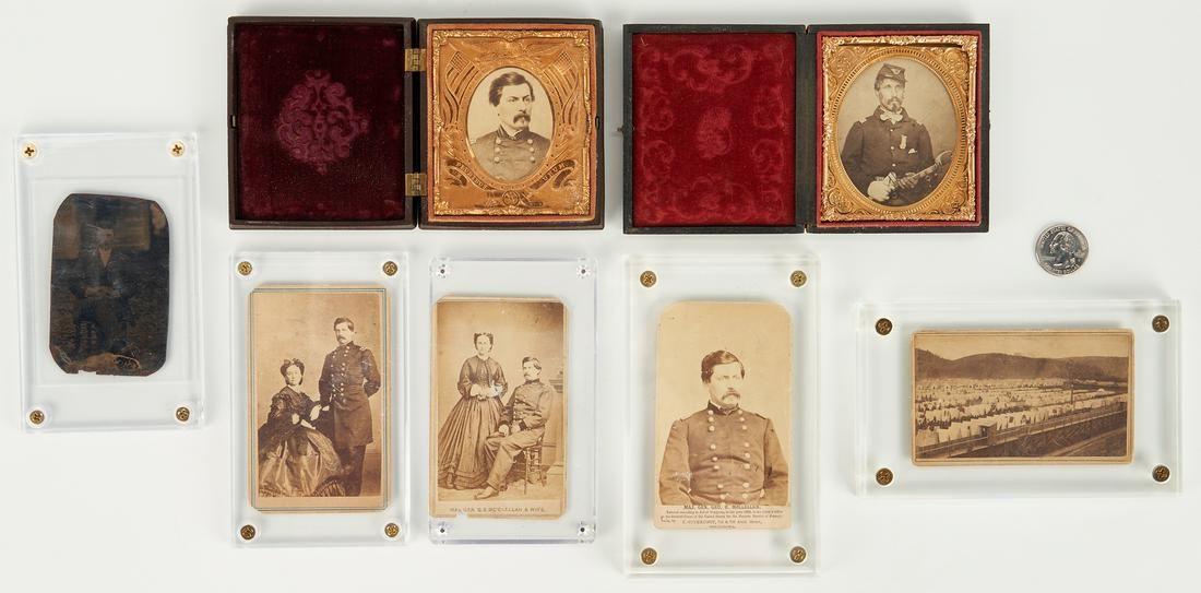 7 Civil War era Photographs, incl McClellan